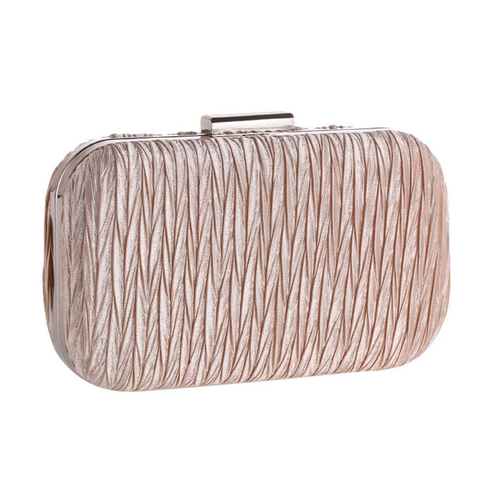 2019 New Evening Bag Simple Pleated Ladies Clutch Bag Feast Cocktail Bag Handbag Hard Shell Pouch