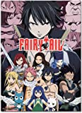 Officially Licensed Fairy Tail: Key Art Wall Scroll, 33 X 44 Inches