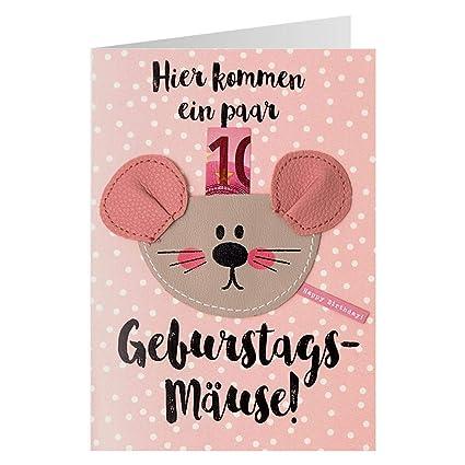 Tarjeta de regalo de cumpleaños, diseño de ratones: Amazon ...