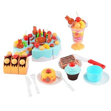 LVPY Alimentos de Corte Juguete, 75 Piezas Tarta Frutal de ...