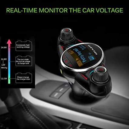 Lettore Display LCD U-Disc BT08 MP3 USB Car Charger Kit Adattatore TiooDre Trasmettitore FM
