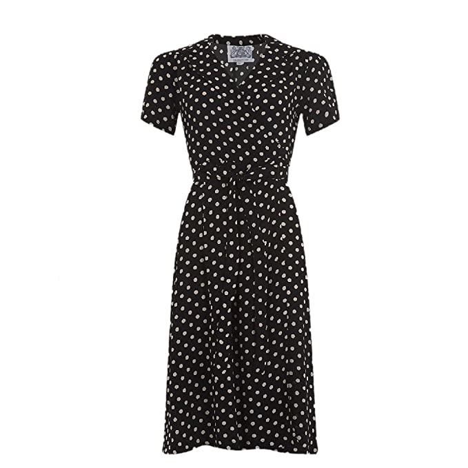 500 Vintage Style Dresses for Sale Seamstress of Bloomsbury Womens Hollywood Mae Wrap Dress £79.99 AT vintagedancer.com