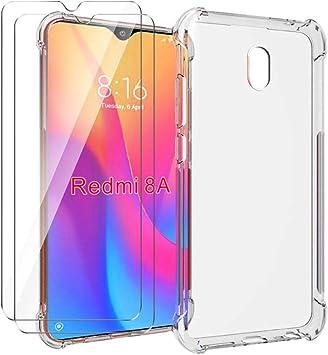 HYMY Funda para Xiaomi Redmi 8A Smartphone + 2 x Cristal Templado ...