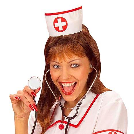 NET TOYS Cuffia per infermiera copricapo crocerossina berretto per  travestimento ospedale accessori da dottoressa o paramedico 873dc6afcd82