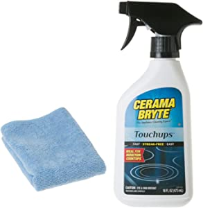 Cerama Bryte Touchups Spray (16 oz) Glass Ceramic Cooktop Cleaner With Microfiber Cloth