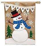 Cheap Evergreen Flag & Garden 13B3444BL Let it Snow Pennant House Flag, 28″ x 44″, Burlap
