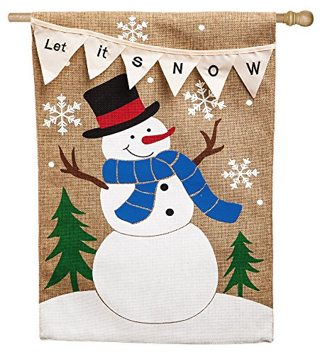 Evergreen Flag & Garden 13B3444BL Let it Snow Pennant House Flag, 28