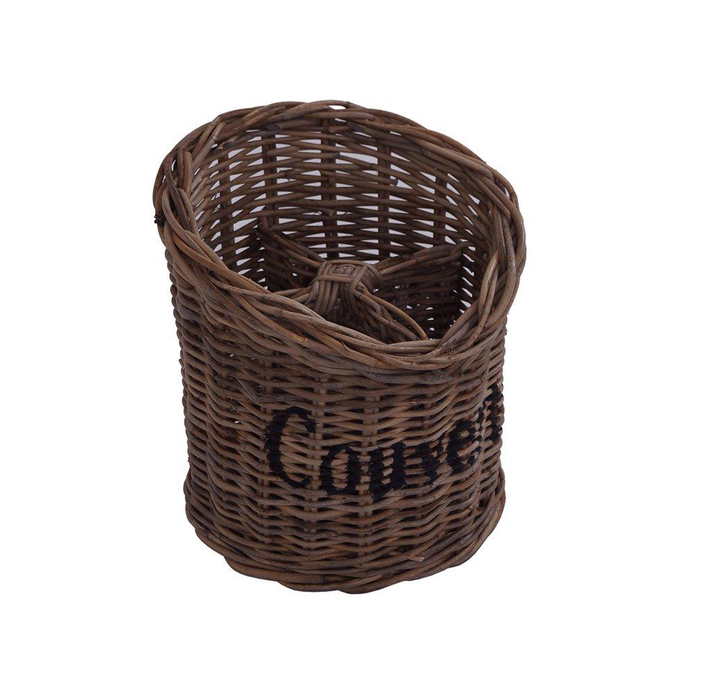 Besteckkorb Couverts Besteckhalter Korb Flechtware /Ø ca 20 cm Rattan