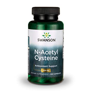 Swanson NAC N-Acetyl Cysteine Antioxidant Anti-Aging Liver Support & Amino  Acids Supplement 600 mg