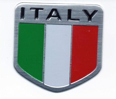 Italy Italian Flag Logo Emblem Metal Alloy Badge Motorcycle Car Sticker Decor