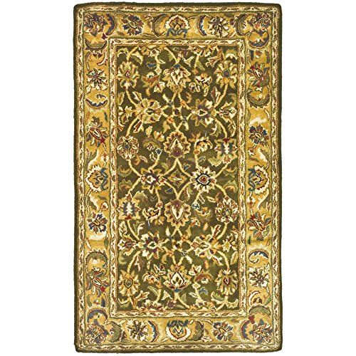 Safavieh Classic Collection CL758M Handmade Traditional Oriental Olive and Camel Wool Area Rug (3