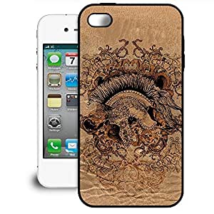 Bumper Phone Case For Apple iPhone 4/4S - Gladiator Fight or Die Rubber Lightweight