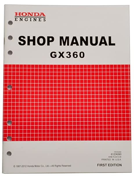 amazon com honda gx360 engine service repair shop manual garden rh amazon com