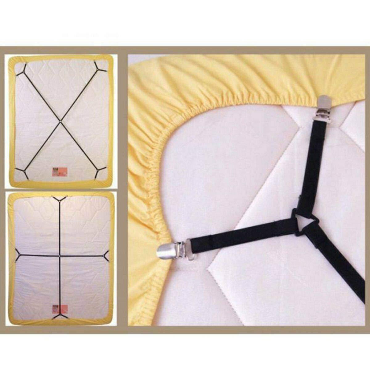 1 Lot de Sangles /élastiques r/églables pour Matelas Yudanny Attaches de Drap de lit