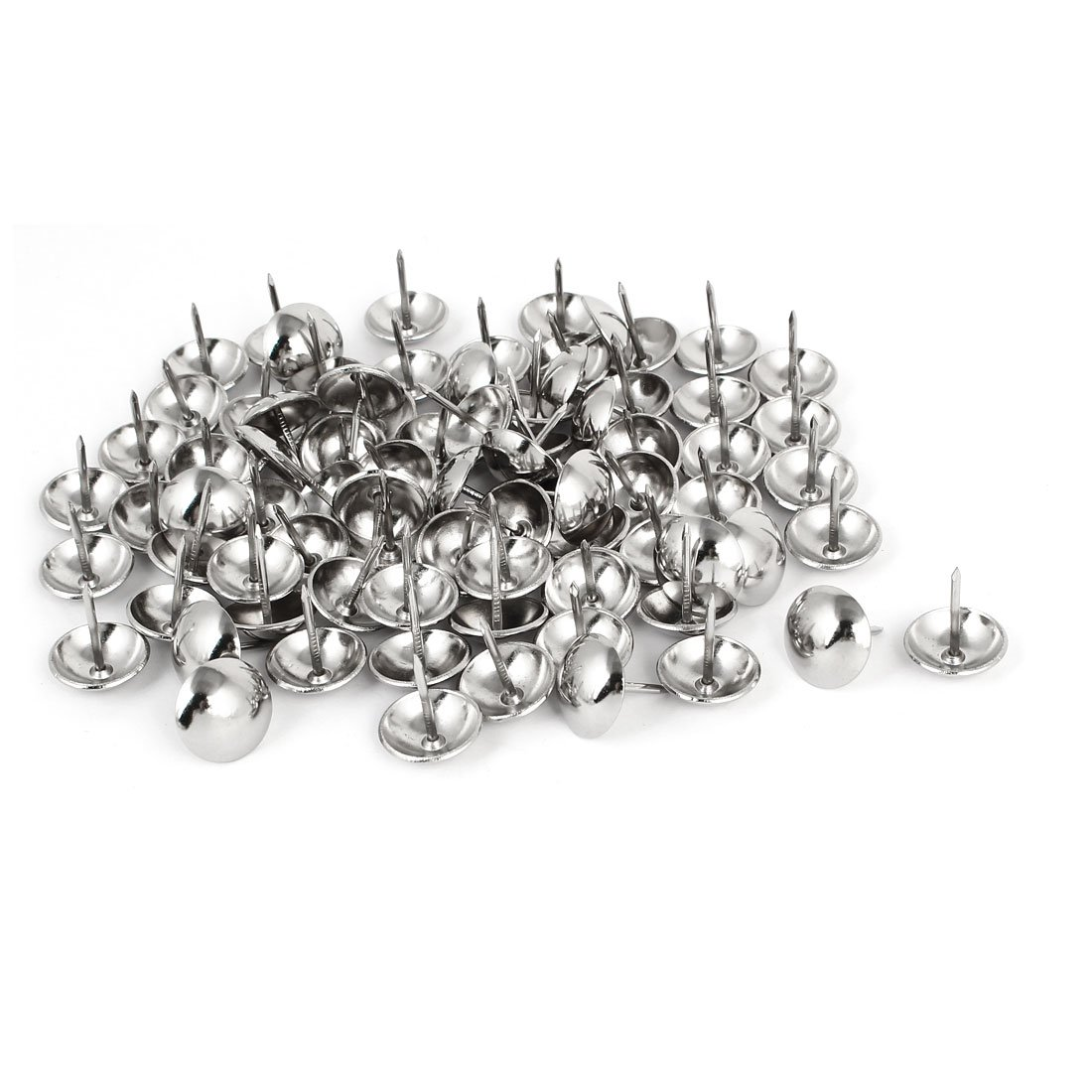 uxcell 19mm Dia Stainless Steel Upholstery Tack Nail Decorative Thumbtack 80PCS