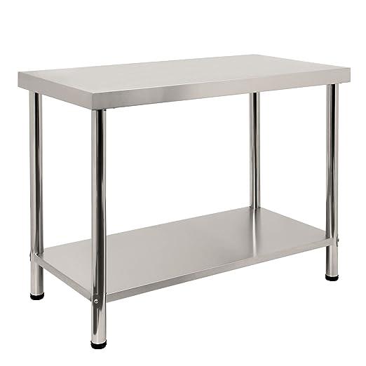Zelsius – Acero inoxidable mesa de trabajo, sin aufkantung ...