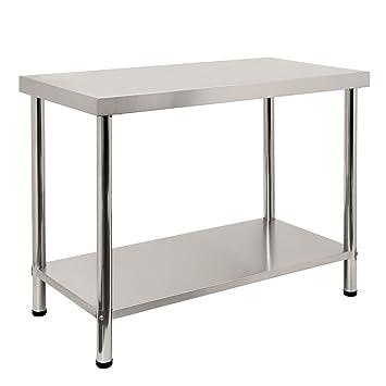 Zelsius - Acero inoxidable mesa de trabajo, sin aufkantung ...