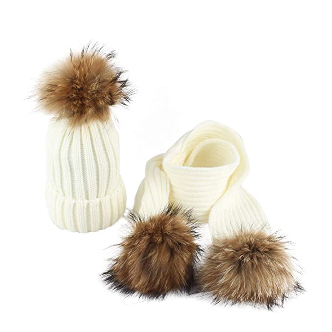 Zipfelmütze Schal Kombination Mütze Strickmütze Schal Wintermütze