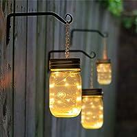 GIGALUMI Lámpara Solar Mason Jar 1 Pieza Lámpara de Decoración Solar para Jardín Exteriores Festival Fiesta Bodas (1PC…