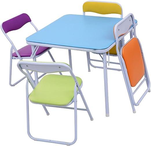 Lapha - Juego de 5 sillas Plegables para niños, Muebles para Sala de Juegos, Patio, jardín: Amazon.es: Juguetes y juegos