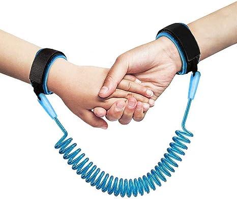 NuoYo Ni/ño Anti-lost Correa de Mu/ñeca para Caminar 1.5m//Azul Compras etc. Beb/é Anti-lost Cintur/ón Arn/és de Seguridad