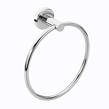SBDTM Banka Stainless Steel 202 Napkin and Towel Ring/Rod (Silver)