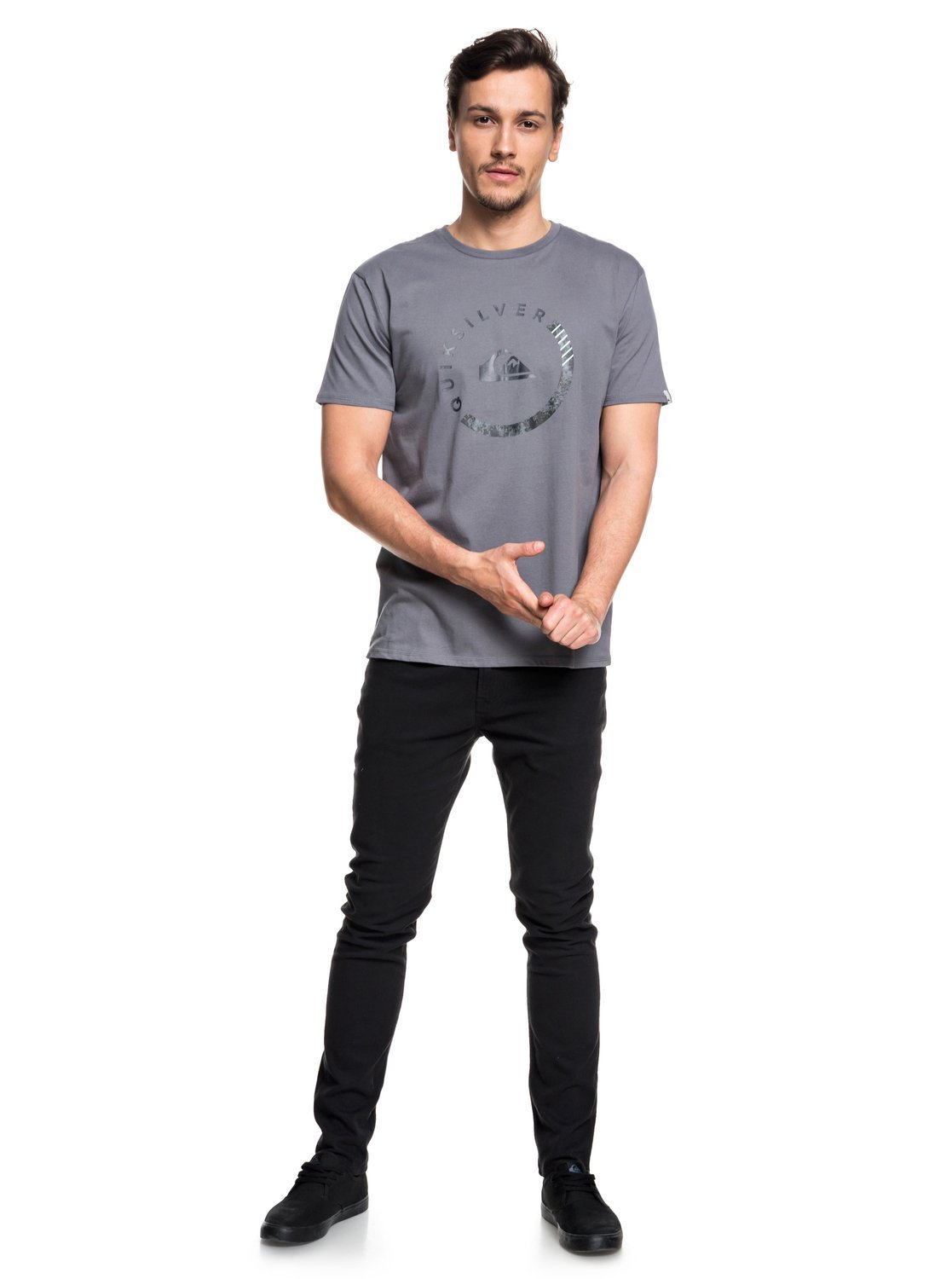 Quiksilver Men's Logo Tee Shirt, Slab Session Quiet Shade, M by Quiksilver (Image #3)