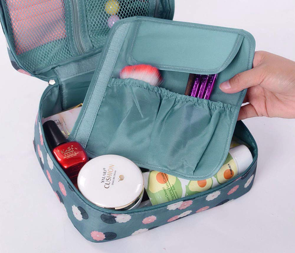 KNDDYY Toiletry Bag Travel Bag, Makeup Cosmetic Bag Travel Organizer for Accessories (Blue)