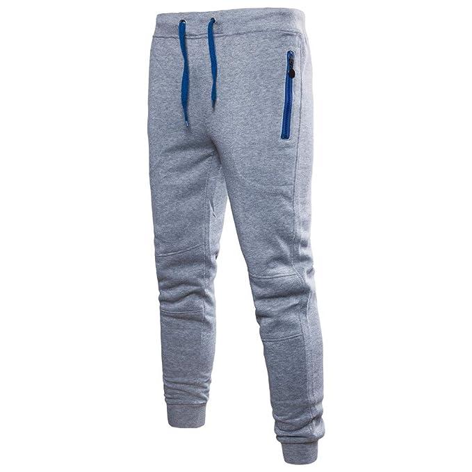 Pantalones Largo Hombre Chandal,ZARLLE Deportivo Jogger Pantolones Largo de Chándal Tether Atléticos Deporte Jogging