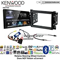 Volunteer Audio Kenwood DMX7704S Double Din Radio Install Kit with Apple CarPlay Android Auto Bluetooth Fits 2013-2014 Dodge Ram