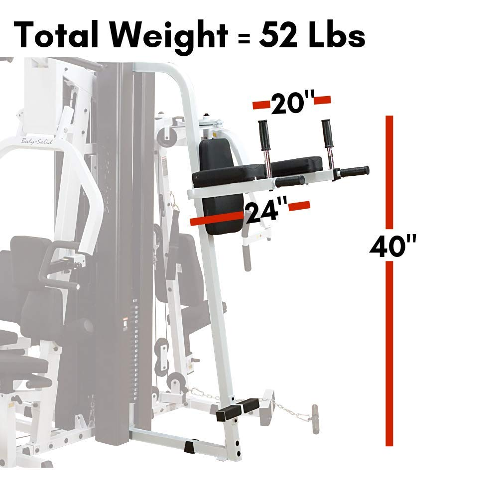 Body-Solid Knee Raise Dip Station for Body-Solid EXM Series Gyms (VKR30) by Body-Solid (Image #4)