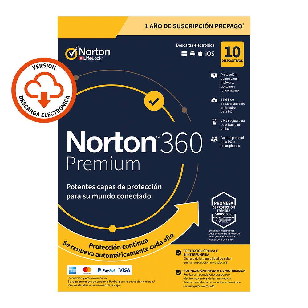 Norton 360 Premium 2020 - Antivirus software para 10 ...