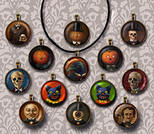 Halloween Pendant Necklace - Skull necklace - Gothic