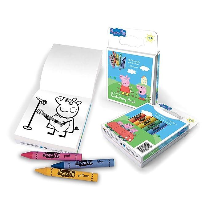 Amazon.com: Colores Primarios colorear de Peppa Pig Pack ...