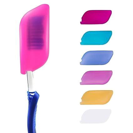 flerise – Cepillos de dientes de silicona cubre, 6 unidades, ideal para casa y