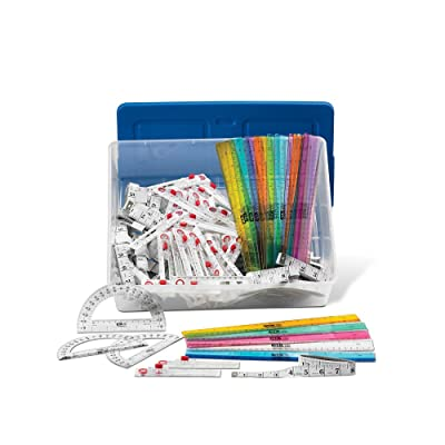 hand2mind Geometry Tools Classroom Set with Rulers, Compasses, Protractors, Tape Measurers for 30 Students (Set of 120): Industrial & Scientific