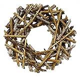 flat back birch stick wreath (12'' wreath)