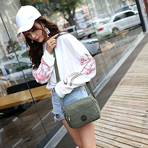 Canvas Women Shoulder 's Outdoor Side Green Bag ZOMUSA Sale Over Crossbody Handbag Sports Multifunctional Hot EXCxqTwnvn