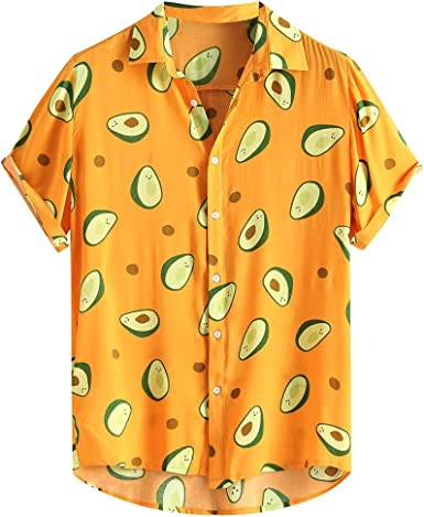 Camisa Estampado Aguacate Hombre, Dragon868 Vintage Camisa Hawaiana, Camisa de Manga Corta Impresión de Hawaii para Playa de Verano, Camisas Hawaianas Aloha de Vacaciones, M-XXXL: Amazon.es: Ropa y accesorios