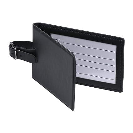 d5e5a1b62fde Amazon.com | Security ID/Business Card Luggage Tag, Magnetic Closure ...