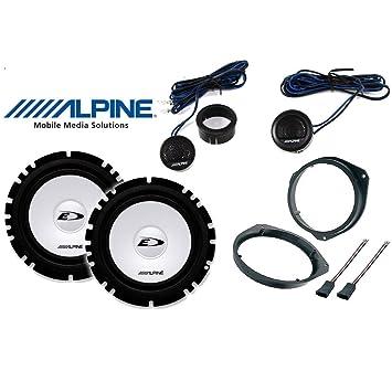Kit 4 Altavoces para Fiat Grande Punto Calidad con adaptadores y Soportes Altavoces Alpine autocarabanas-DWT Delantero: Amazon.es: Electrónica