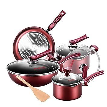 Super Value - Juego de ollas y sartenes de cocina de aluminio ...