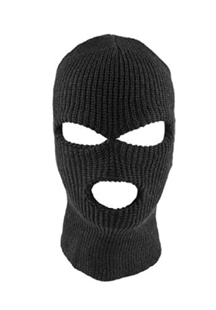 1f305a6495f Image Unavailable. Image not available for. Color  Beth Sport 3 Three Hole  Full Face Ski Mask Skull Men Women Warm Winter ...