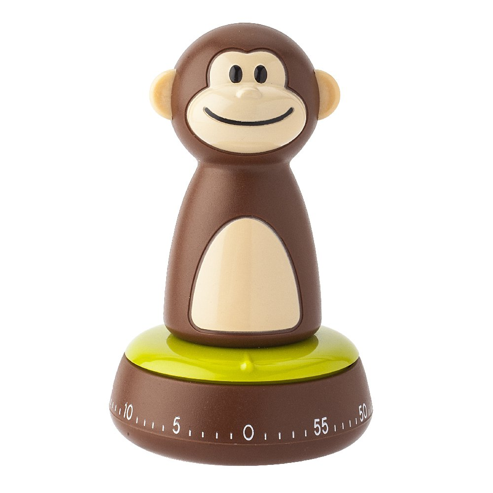 Joie Monkey Kitchen Timer, 60-Minute Mechanical, 4-Inches x 2.5-Inches
