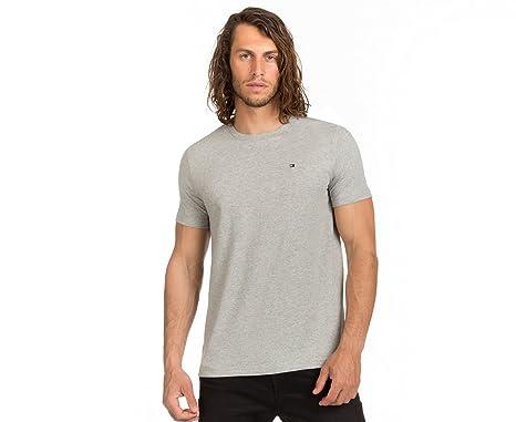 9ee5555a Tommy Hilfiger Men's Flag Crew Tee Grey Heather: Amazon.com.au: Fashion