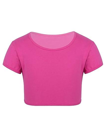 iEFiEL Youth Big Girls Dance Sports Bra Crop Tops Vest Athletic Yoga Gymnastics Ballet Tank Tops Dancewear Workout