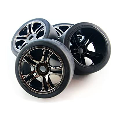 Traxxas XO-1 4 WHEELS & TIRESFront/Rear Slicks 6479 6477 6471 6470 6476 6478: Toys & Games