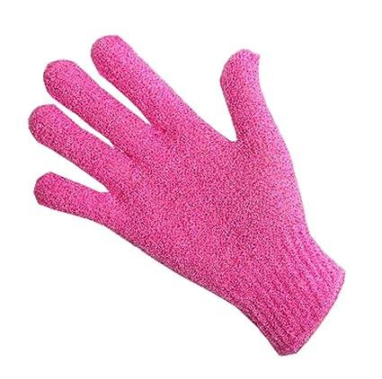 Dedo, toalla de baño toalla de frotamiento exfoliante para el cuerpo Back-1 par