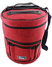 Knitting Bag for Yarn and Wool Storage. Portable, Lightweight and Easy to Carry. Knitting/Crochet Yarn Holder with Pockets for Accessories and Slits on Top to Protect Yarn and Prevent Tangling