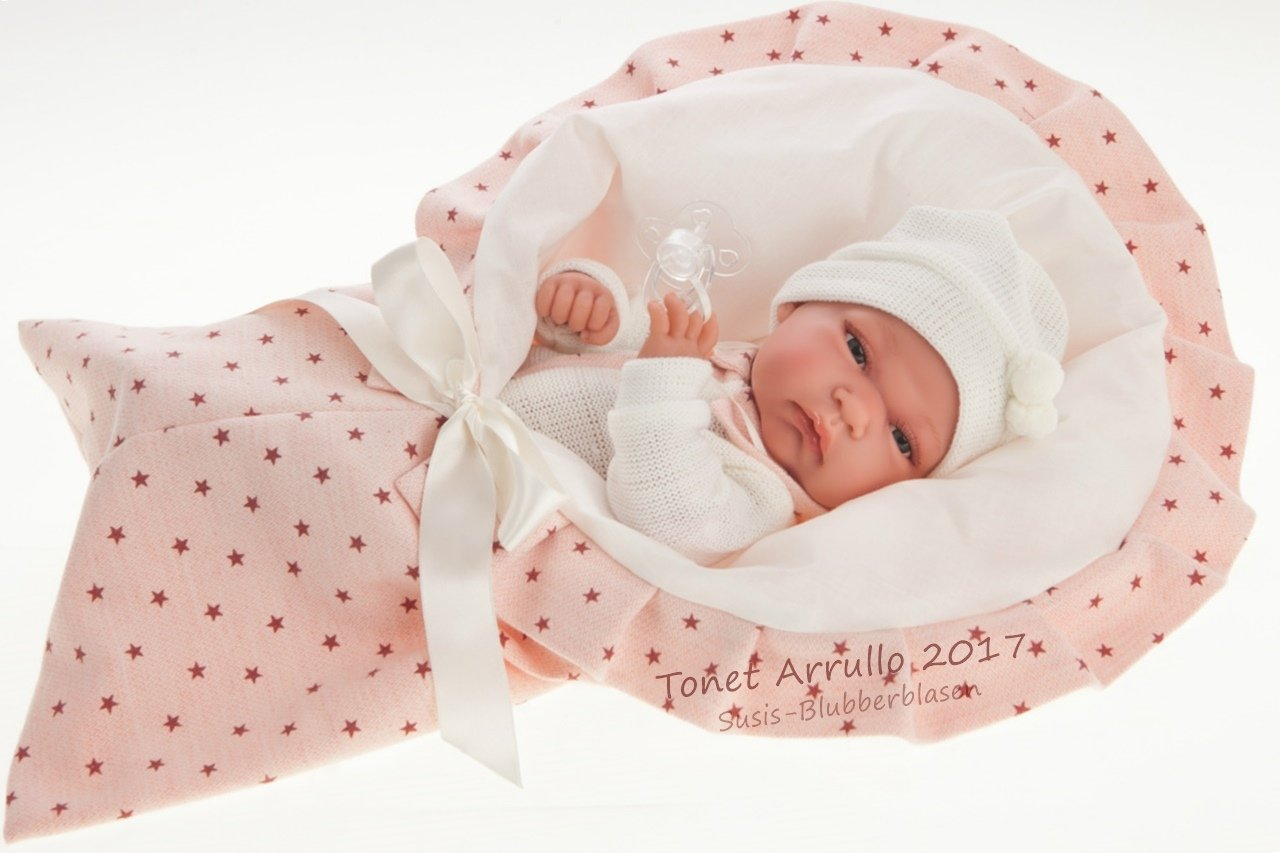 ANTONIO JUAN Baby Toneta Arrullo-Bambola Realistica, colore rosa, AJ6016
